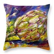Artichoke Throw Pillow by Barbara Pirkle