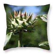 Artichoke Bud Throw Pillow