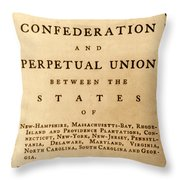 Articles Of Confederation, 1777 Throw Pillow