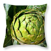 Artie Choke - Artichokes By Diana Sainz Throw Pillow
