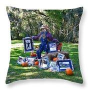 Artie Scarecrow Throw Pillow