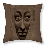 Artificial Intelligence Entity Sepia Throw Pillow