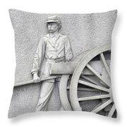 Artillery Detail On Monument Throw Pillow