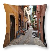 Artisan Alley Portofino Italy Throw Pillow