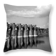 Artisan Lakes Bridge 1bw Throw Pillow