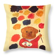 Artisan The Bear Throw Pillow