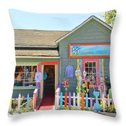 Artist Gallery In Cambria California  7142 Throw Pillow