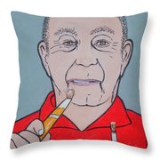 Artist Paints Artist Throw Pillow