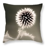 Artistic Black And White Flower Throw Pillow
