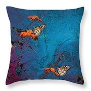 Artistic Butterflies Throw Pillow