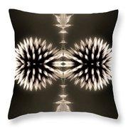 Artistic Flower Abstract Throw Pillow