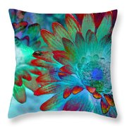 Artistic Flowers Throw Pillow