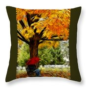 Artistic Reflection Throw Pillow