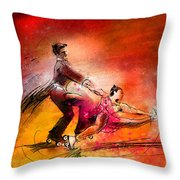 Artistic Roller Skating 02 Throw Pillow