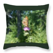 Artistic Butterfly Stand  Throw Pillow