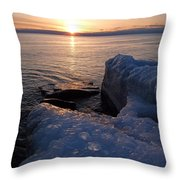 Artistic Sunrise Throw Pillow