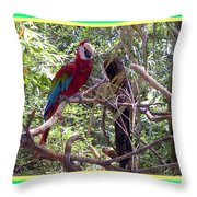 Artistic Wild Hawaiian Parrot Throw Pillow