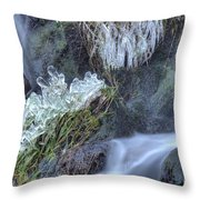 Artistry In Ice 22 Throw Pillow