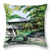 Artists Bridge September Throw Pillow