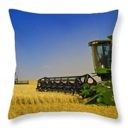 Artists Choice Two Combine Harvesters Throw Pillow