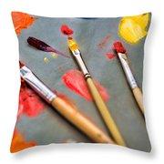 Artist's Palette Throw Pillow