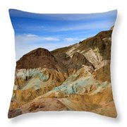 Artists Palette Death Valley National Park Throw Pillow