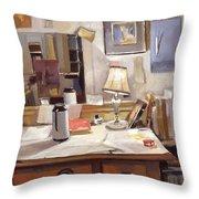 Artist's Studio Throw Pillow