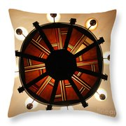 Arts And Crafts Chandelier At Summit Inn Throw Pillow