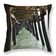 Long Walk Short Pier Throw Pillow