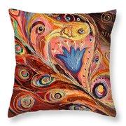 Artwork Fragment 104 Throw Pillow by Elena Kotliarker