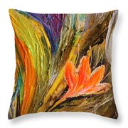 Artwork Fragment 98 Throw Pillow by Elena Kotliarker