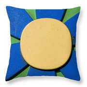 Artwork In The Form Of A Flower On The Child Moscowa Cemetery In Arnhem Netherlands Throw Pillow
