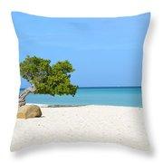 Aruba Divi Divi Tree Throw Pillow