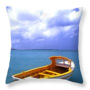 Aruba. Fishing Boat Throw Pillow by Anonymous