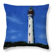 Aruba Light House Throw Pillow