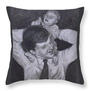As A Father Carries His Son Throw Pillow by Kathy Weidner