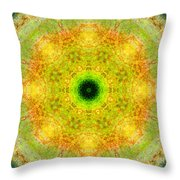 Moss Mandala Throw Pillow