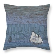 As Dusk Sets Over The Sound Throw Pillow