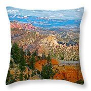 As Far As The Eye Can See From Farview Point In Bryce Canyon-utah   Throw Pillow