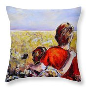 As Far As The Eye Can See Throw Pillow by Vickie Warner