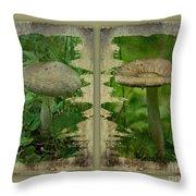 As I Age - A Mushroom's Tale Throw Pillow