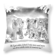 As I Get Older Throw Pillow