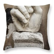 As I Was Saying Throw Pillow by Joan Carroll