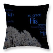 As The Heavens Throw Pillow
