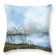 As The Mist Rises Throw Pillow