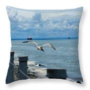 As The Seagull Flies Throw Pillow