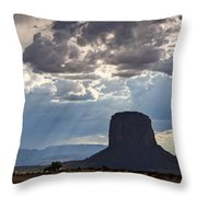 As The Storm Moves In Throw Pillow