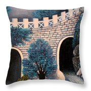 As The Water Flows Throw Pillow