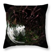 As Wood Nymphs Frolic Throw Pillow