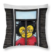 As You Look Into A Window Into It So It Looks Out Throw Pillow